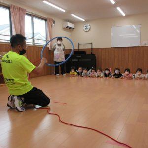 保育園内で実施している体操教室