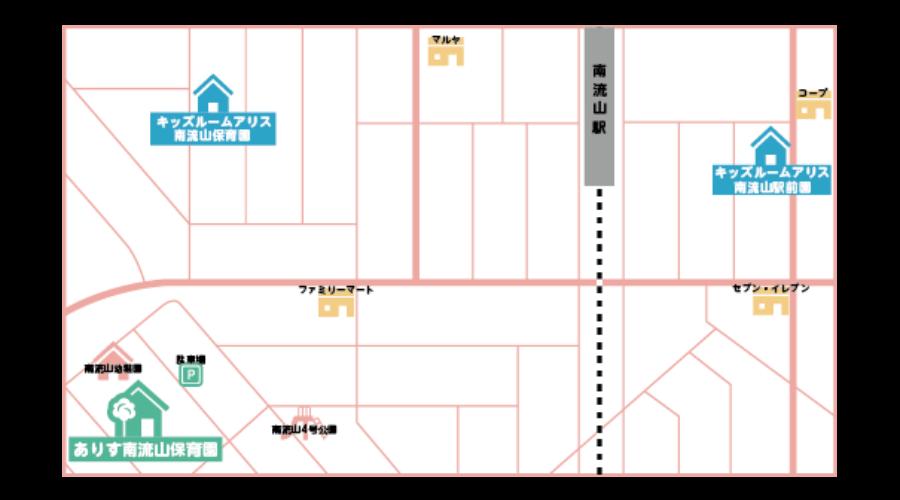 保育園の地図